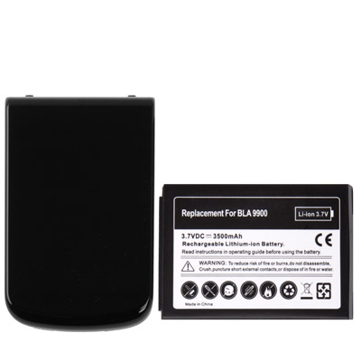 3500mAh Replacement Mobile Phone Battery Cover Back Door for Blackberry Bold Touch 9900 (Black)(China (Mainland))