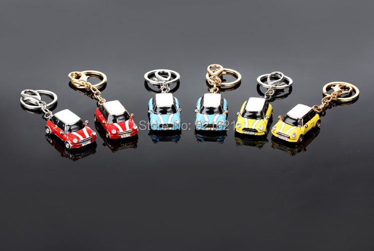 Alloy Mini Cooper classic car key chain K0016<br><br>Aliexpress