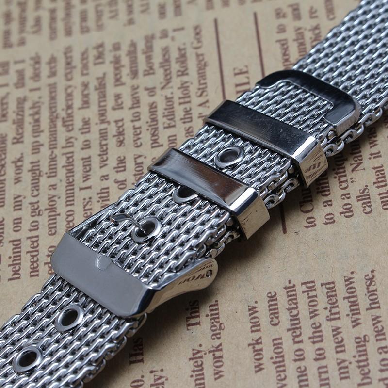 Акула Сетки браслеты для Часов Ремешки Для Наручных Часов Мода Часы аксессуары 18 мм 20 мм 22 мм 24 мм классический ремень для Бренда часы Серебряный новый