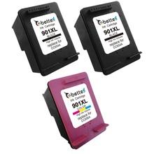 Free Shipping Combo Pack CC654AN CC656AN Printer Ink Cartridge for hp 901XL 901 Officejet 4500 4600 J4550 J4580 J4680..(2BK+1CL)