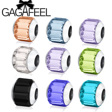 GAGAFEEL Big Hole Colorful Beads for Pandora Bracelet Necklace Charms DIY Jewley making Luxury Charms for 3MM Snake Chain(China (Mainland))