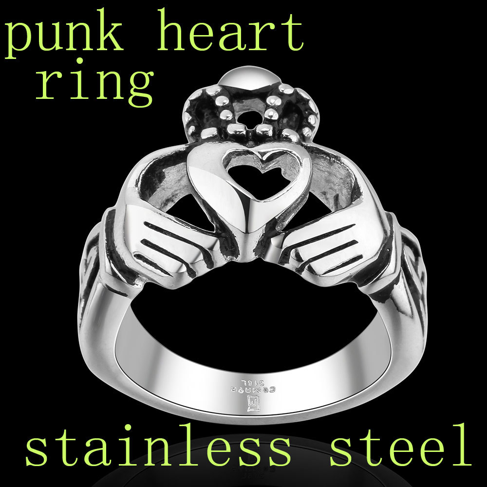 Punk Heart Rings for Men Bijoux Wedding Accessories 2014 Autumn Fashion Sale Rico's Store Professional Discount Seller sr125()