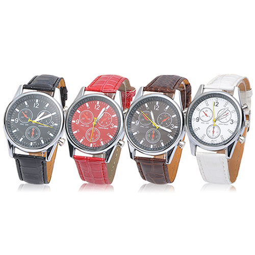Unisex Womens Mens Casual Faux Leather Strap Gift Analog Quartz WristWatches<br><br>Aliexpress