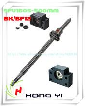 Ball screw SFU1605 L=500mm -C7end machined +Ballscrew ball nut+ 1 set BK12/ BF12 Support CNC - Guangzhou, HongYi Automation Co., Ltd. store