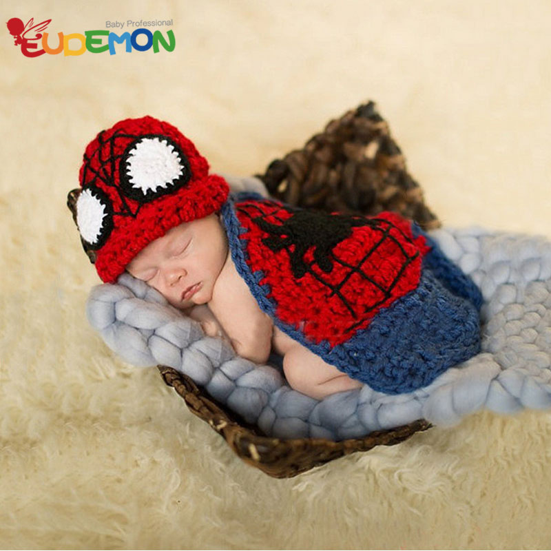 Cartoon newborn photography props Baby Costume fotografia For knitting handmade crochet outfits 2016 cute photography for child(China (Mainland))