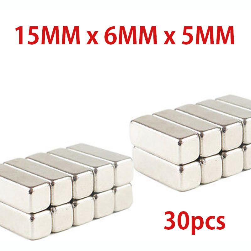 30Pcs/lot N35 15mm X 6mm X 5mm Strong Ndfeb Magnets Bulk Super Round Disc Rare Earth Neodymium Magnet Free Shipping(China (Mainland))