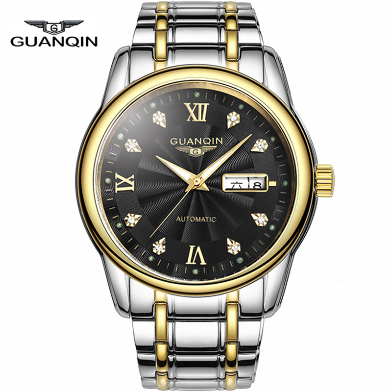 Original GUANQIN Watches Men Automatic Mechanical Watches Top Brand Luxury Waterproof Luminous business Watch reloj hombre 2016