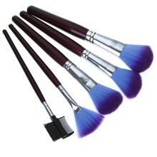 New Arrival 16 pcs Cosmetic Beauty Makeup Brush Set Tools with Purple Leather Case Dropshipping