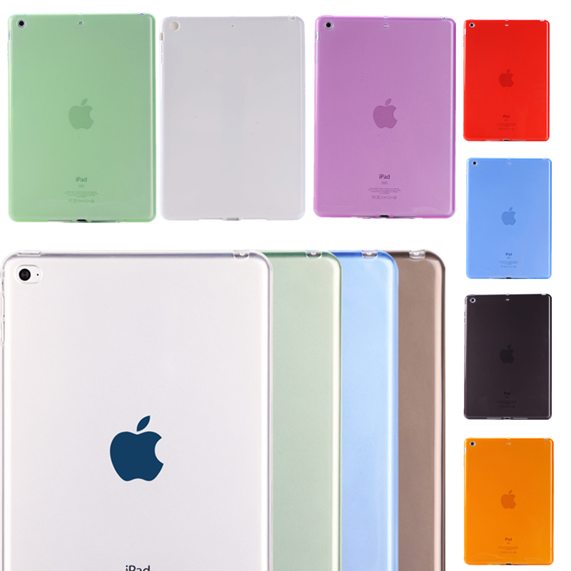 Clear Colorful Case For iPad mini 1/2/3 7.9 inch Soft Tpu Silicon Fashion Shockproof Back Cover Case(China (Mainland))
