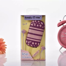 2016 Newst KEEKA L-7 Candy Color Cute In-ear Earphone With Ice-Cream Case Kids Gift Headset for iPhone6/6S/XIAOMI Halloween Gift