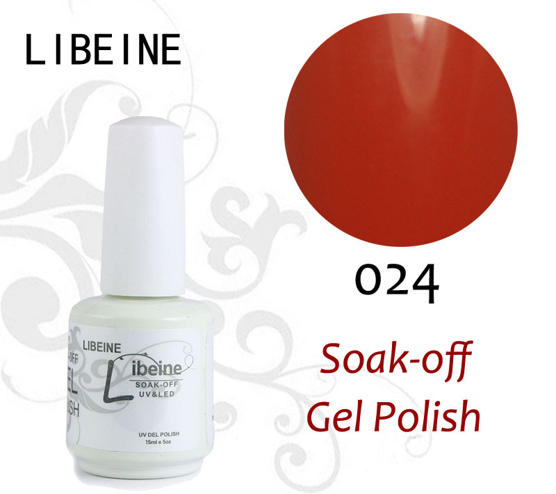 15ML UV Gel By LIBIENE Cosmetics 100 Colors Optional UV Gel Nail Polish Long-lastting UV Gel Nails up to 40 Days 024 Fiery Red(China (Mainland))