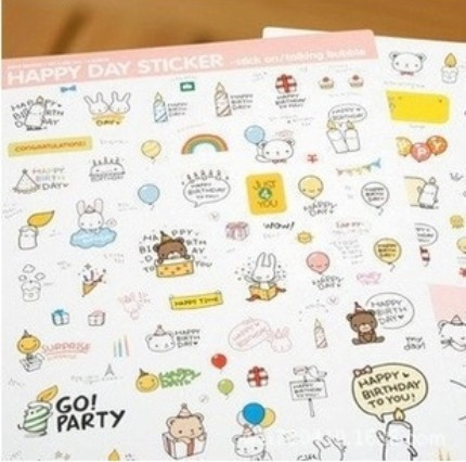 Freeshipping! Korea Creative Cute Happy Bear Day Paper diary Sticker/DIY Multifunction Note sticker/Decoration label/Wholesale<br><br>Aliexpress
