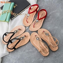 Hot Sale Summer Bohemia Sweet Beaded Sandals Clip Toe Sandals Beach Shoes wholesale(China (Mainland))