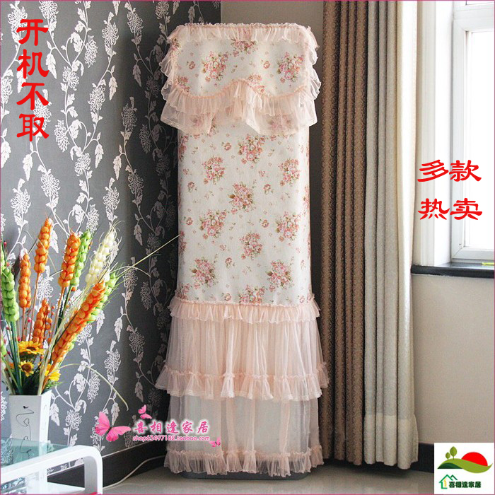Vertical air conditioner sheathers cabinet air conditioning units dust cover guiji cover rustic cloth(China (Mainland))