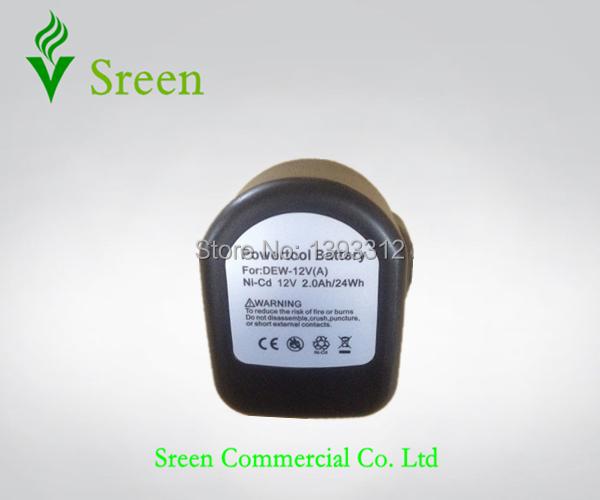 2pcs 12V Ni-Cd 2000mAh Power Tool Rechargeable Battery Packs Replacement for DEWALT DE9074 DE9037 DE9071 DW9075 Cordless Drill(China (Mainland))