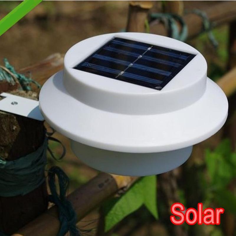 4 piece/lot LED Solar Lamp Sensor Waterproof Solar Light 3 LED Street Light Outdoor Path Wall Lamp Security Spot Lighting(China (Mainland))
