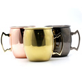 18 oz Moscow Mule Mug Copper Plated Rose Gold Plated Black Nickel Palted Stainless Steel Copper