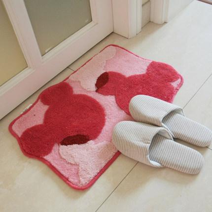 50*80 cm velo coral tapetes de banho Rosa Dos Desenhos Animados impermeável anti-slip tapetes felpudos e tapetes para casa sala de estar Frete Grátis(China (Mainland))
