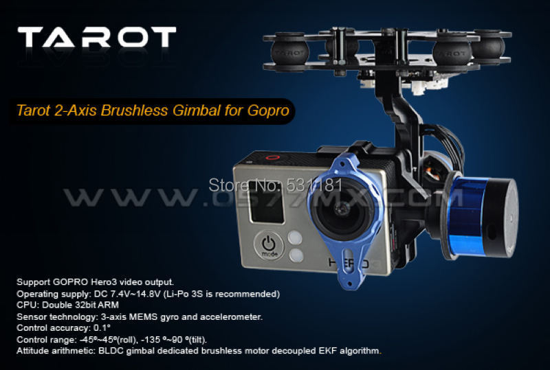 Tarot Gopro two axis brushless ptz/ Containing ptz   gyroscopes TL68A00<br><br>Aliexpress