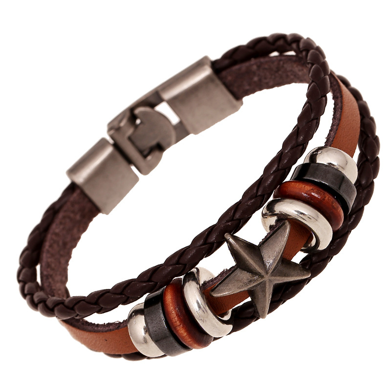 wholesale genuine leather bracelet charm wrap