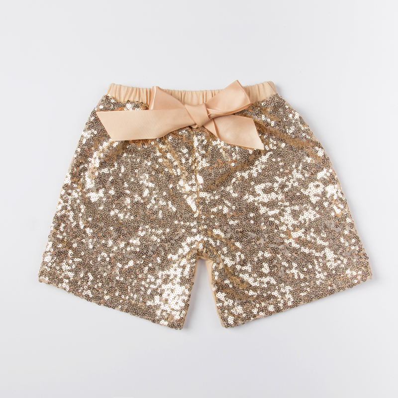 Hot selling baby pants boys girls shorts kids trousers sequin short for children baby girls costumes clothes wholesale