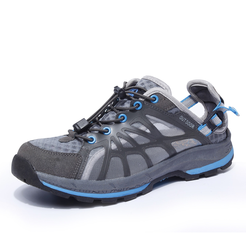 Men Outdoor Shoes Breathable Spring/Summer Men Hiking Shoes Walking Shoes Lightweight Travel Shoes Botas Hombre Rock Sneakers(China (Mainland))