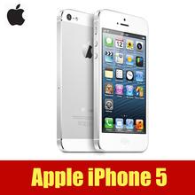 Оригинального APPLE iPhone 5 сотовых телефонов двухъядерный 4.0 дюймов 3 г WIFI GPS 8MP камера 1080 P ROM 16 г 32 г 64 г 4.0 дюймов(Hong Kong)