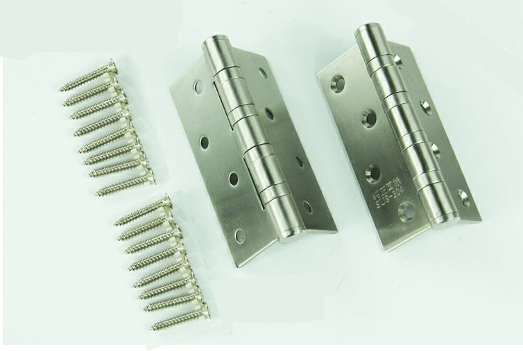 100mm 100% 304 Stainless Steel Door Hinge Four Bearings Silent Hinge Furniture Hinge Thickness 3mm Plus Screws(China (Mainland))