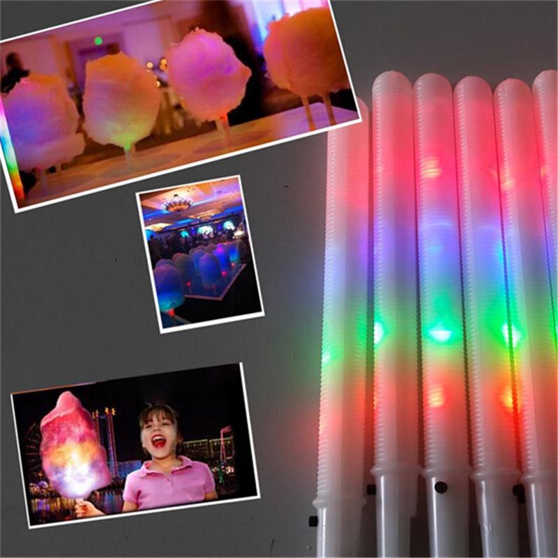 100pcs/lot 28*1.75CM Light toys party Cheer led Stick flash glow Cotton Candy Stick Vocal Concerts Night Parties
