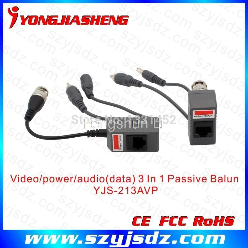 10Pairs long distance CCTV passive video balun with power and audio input<br><br>Aliexpress