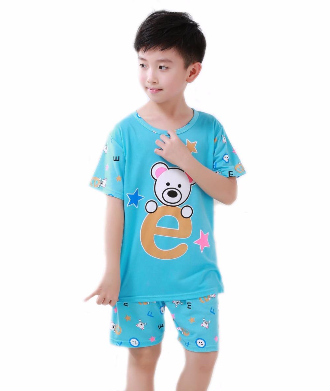 2016 New Fashion Summer Boys Girls Kids Pajama Sets Cotton ...