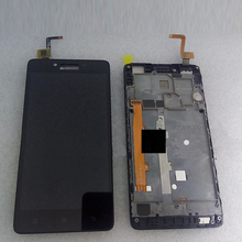 100% Original LCD Display + Touch Screen Digitizer Assembly with Frame For Lenovo A6000 Smartphone in stock Free Shipping