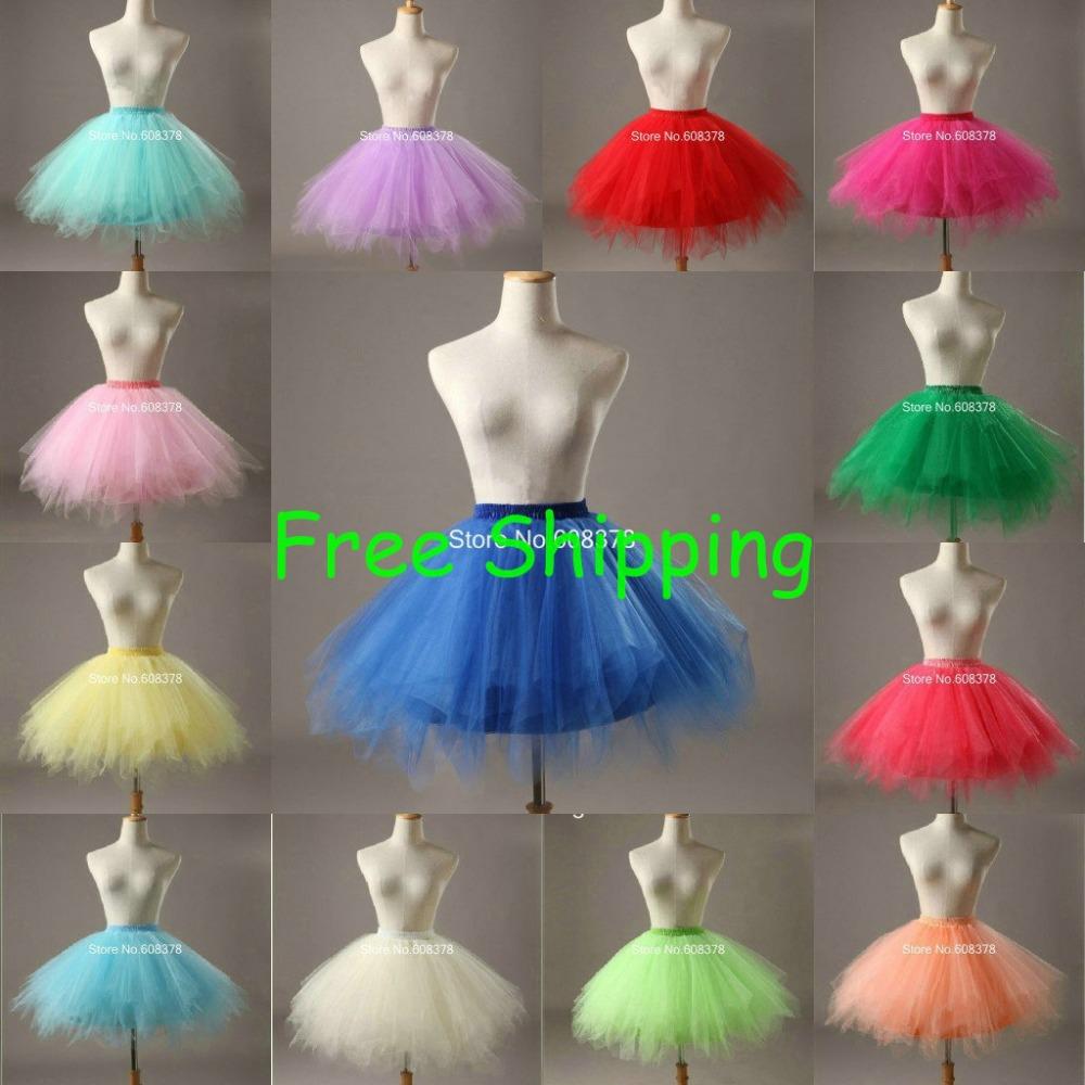 Гаджет  HOT! In Stock 2015 Fast Shipping Underskirt Ball Gown Petticoats Fancy Net Skirt Rockabilly Tutu Mini Petticoat YJX801 None Одежда и аксессуары