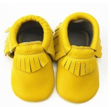 New Genuine Cow Leather Baby Moccasins Soft Moccs Baby BOW Shoes girls Newborn Baby first walker Anti-slip Infant Shoes Footwear(China (Mainland))