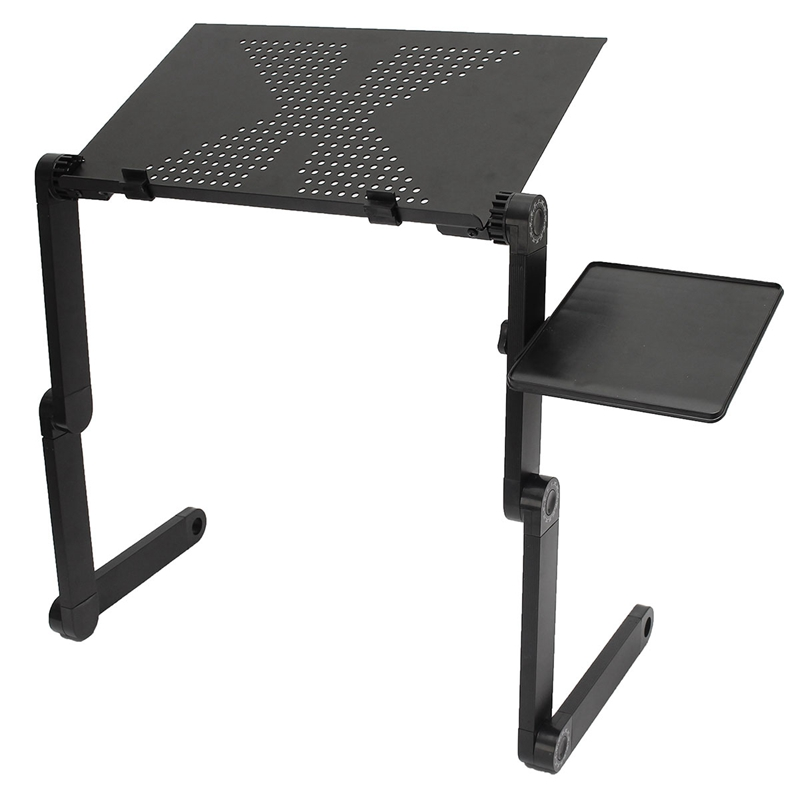New ! Portable Folding Laptop Notebook Table Desk Adjustable Laptop Stand Desk With Cooling Holes Mouse Board For Bed Sofa Tray(China (Mainland))
