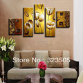 5 piece canvas wall art Abstract modern canvas art for sale wall deco flower oil painting