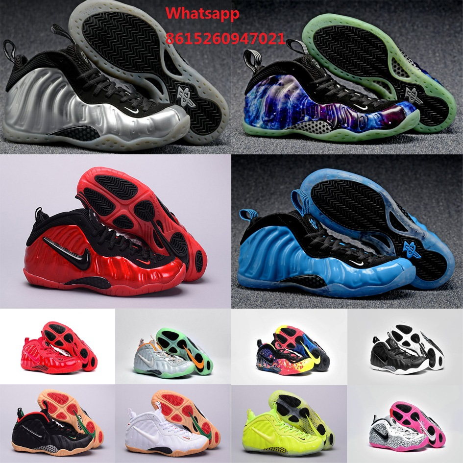 New 2016 Cheap womens air penny hardaway shoes pure platinum galaxy Northern Lights with original box woman size US 5.5 to 8.5(China (Mainland))