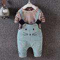 2016 Kids Clothes Sets Fashion Autumn 2pcs Sets Skirt Suit Cartoon Pattern Baby Girls boys Causal