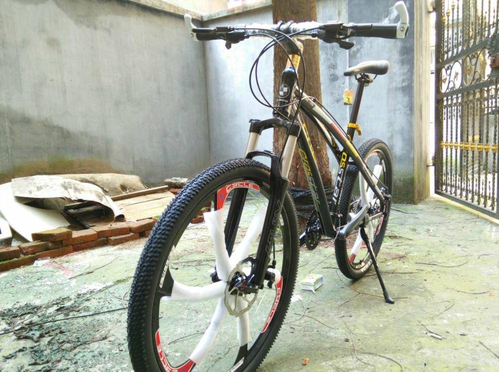bikes alloy 26*17 inch aluminum alloy frame 2016 bicicleta mountain bike 21/24/27/30 speed 26er Disc brakes(China (Mainland))