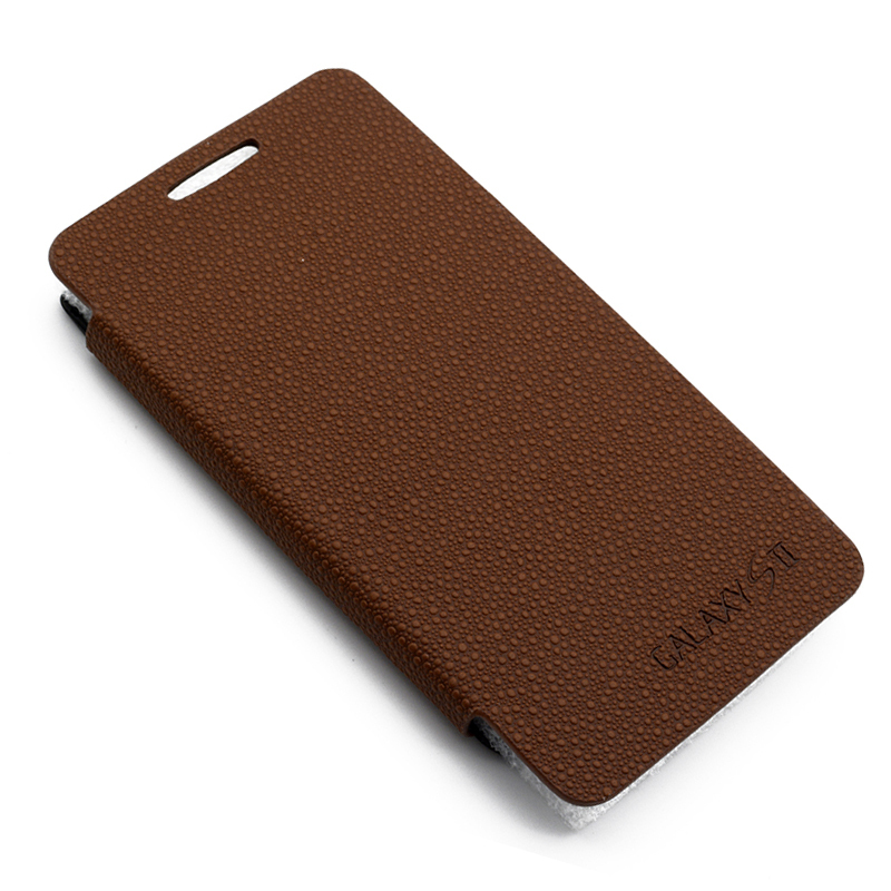 Back Battery Cover Case For Samsung Galaxy S2 I9100 SII Cell Mobile Phone Flip Leather Battery Case Cover 4 Color High Quality(China (Mainland))