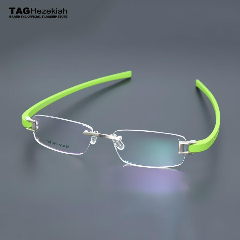 2016 TAG Hezekiah Brand women men Optical Frame Rimless Eyeglasses Frame oculos de grau Spectacle Frame TH-5069 nerd glasses(China (Mainland))