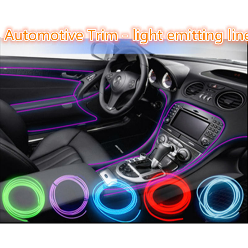 Car styling EL products Colorful Flexible 3M EL Wire Cold Neon Light For HYUNDAI SONATA 8 ELANTRA I30 q240 accent getz(China (Mainland))