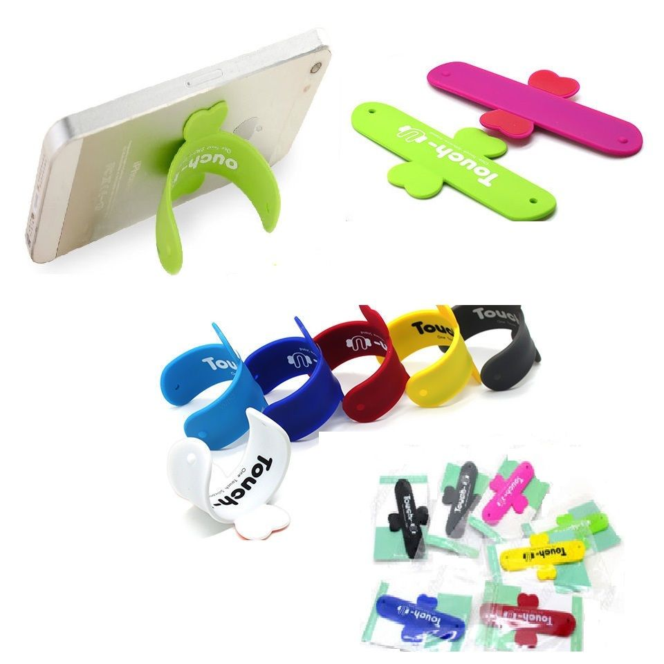 Universal Portable Touch U Silicone Stand Holder Cell Phone Mounts For Iphone Smartphone Mini portable mobile phone support(China (Mainland))
