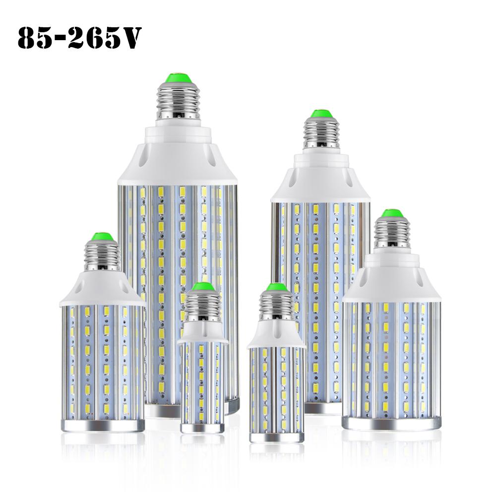 Full Watt Anti-Strobe / Flicker LED Corn Bulb light led E27 E14 10W 15W 20W 25W 30W 50W lamparas 5730SMD Aluminum PCB High Power(China (Mainland))
