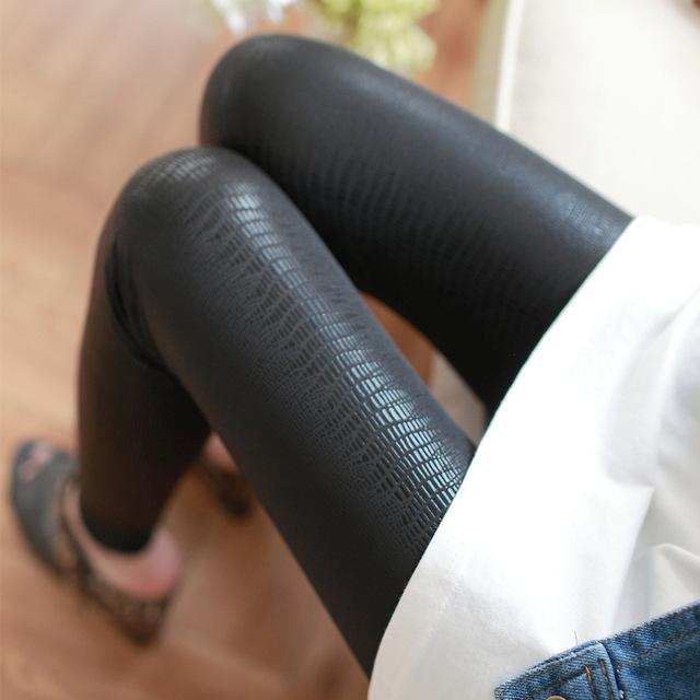 2016 весна/лето стиль женщин леггинсы горячие продажа змея печати искусственная кожа высокого качества тощий леггинсы для женщин