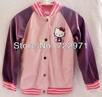 girl casual coat lovely kids outwear children purple clothing
