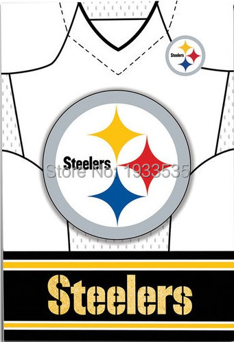 Pittsburgh Steelers Jersey Vertical banner 3X5ft Garden House Flag(China (Mainland))