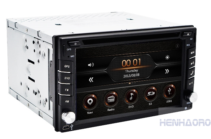 """Touch Screen car dvd player gps navigation USB SD Bluetooth FM 6.2"""" 2din in dash TFT support rear view camera input(China (Mainland))"""