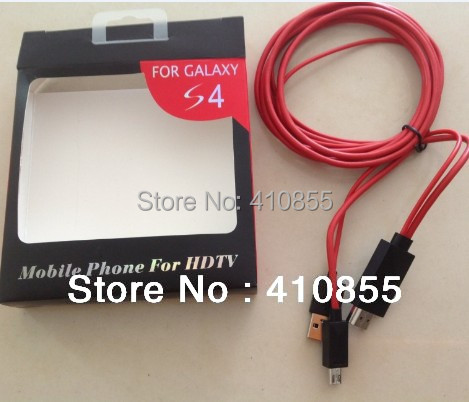 2M Micro USB MHL to HDMI adapter Cable HDTV For Samsung Galaxy S4 i9500 S3 Note 2 N7100, With Retail Box, 20pcs By DHL Free!