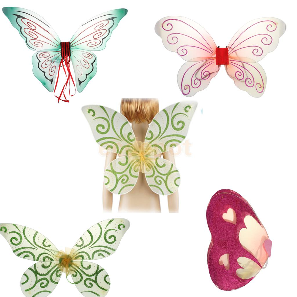 Glitter Butterfly Angel Fairy Wings Kid Child Party Costume Fancy Dress(China (Mainland))